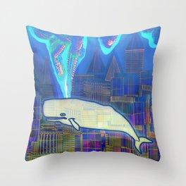 Cachalote in Atlantis 03-08-16 Throw Pillow