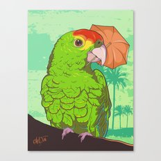 Parrot illustration Canvas Print