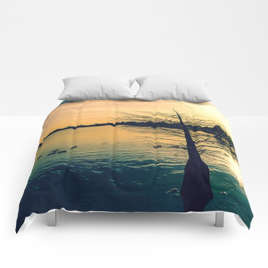 Lake in Dusk Comforters