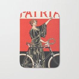 Vintage Cycling Poster Bath Mat