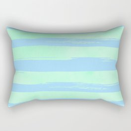 Trendy Stripes Blue Raspberry + Mint Meringue Rectangular Pillow