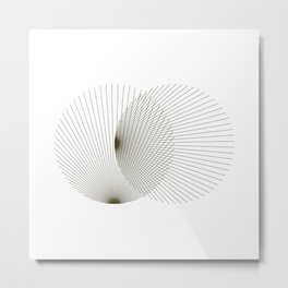 #392 Binocular interference – Geometry Daily Metal Print