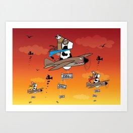 Muso Milkwar Aircraft Art Print
