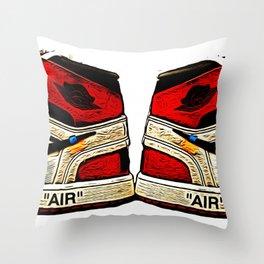 Off White X Jordans Chicago Throw Pillow