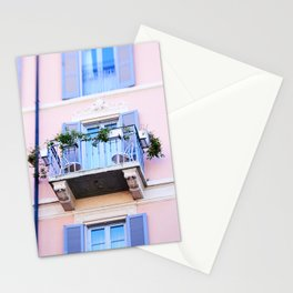 Balcony overlooking Commune di Bellagio Stationery Cards