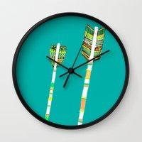 arrow Wall Clocks featuring Arrow by yuyuy