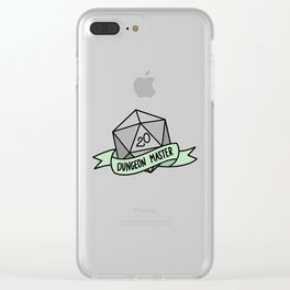 Dungeon Master D20 Clear iPhone Case