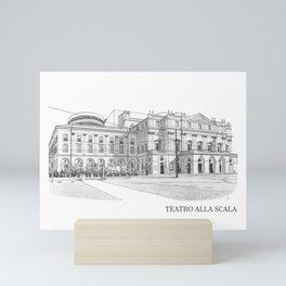 Scala di Milano (Italy) Mini Art Print