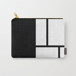 Black and white, color Block abstract Carry-All Pouch