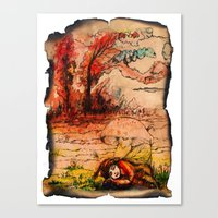 fairy tale Canvas Prints featuring fairy tale by Elvira Marinevich