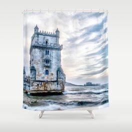Belém Tower, Lisbon (Portugal) Shower Curtain