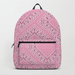 Pink Bandana Diamond Patches  Backpack
