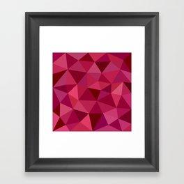 Rose Petals Low Poly Framed Art Print