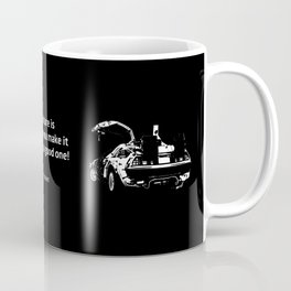 Back to the Future Doc Brown Quote 80s poster Coffee Mug