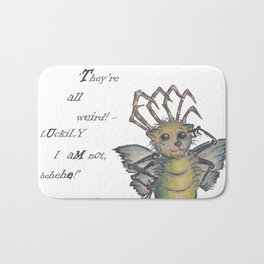 They're All Weird, says the Mockmoth Bath Mat