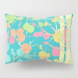 Bright Cherry Blossom Stripe Pillow Sham
