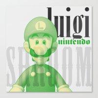 luigi Canvas Prints featuring Luigi by Thomas Official