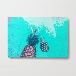 Pineapple Float Metal Print