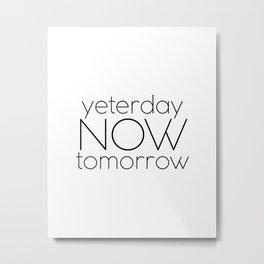 Wall Art,Just Do It,Start Now.Office Decor,Home Sign,Room Decor,Motivational Poster,Inspirational Qu Metal Print