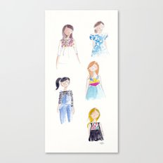 Anthropologie Girls Canvas Print