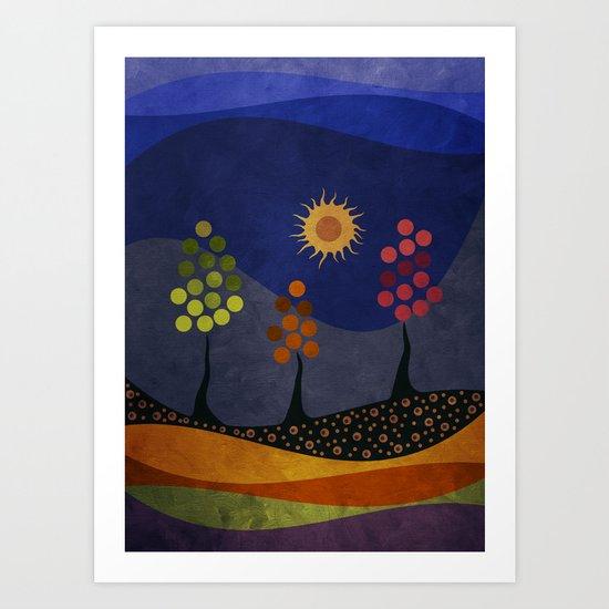 Paisaje y color Art Print