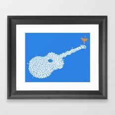 Country Guitar Framed Art Print
