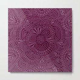 Claret Pattern Metal Print