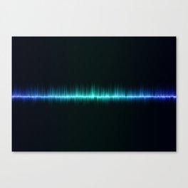 blue color sound waves beat music volume Canvas Print