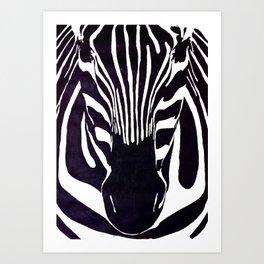 Zebra Painting  Art Print