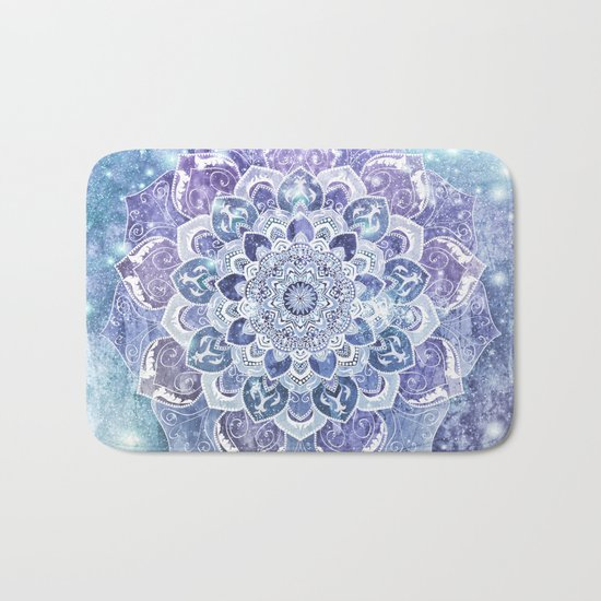FREE YOUR MIND in Blue Bath Mat