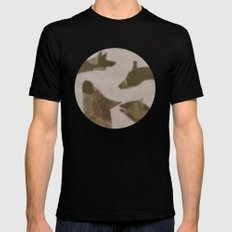 animal invasion (ii) SMALL Black Mens Fitted Tee
