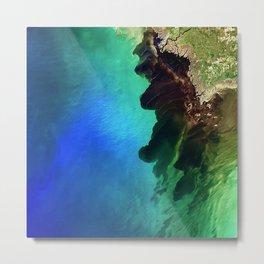 70. Suwannee Blackwater River Meets the Sea Metal Print