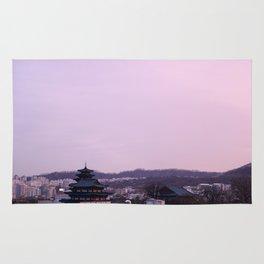 Pink Sky in Seoul Rug