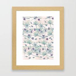 Sea floral print Framed Art Print