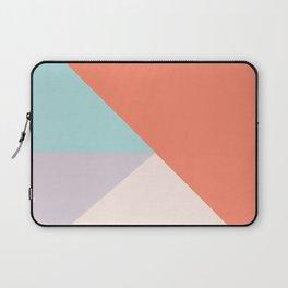Geometric orange teal lavender color block pattern Laptop Sleeve