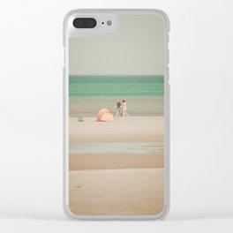 Beach dune miniature 1 Clear iPhone Case