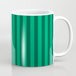 Jade Green Stripes Pattern Coffee Mug