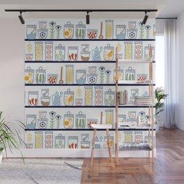 Kitchen Shelves Wall Mural