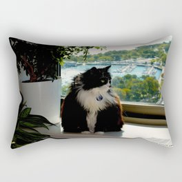 Contemplating Cat (Gracie Queen of Chicago Collection) Rectangular Pillow
