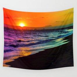 Rainbow Sunset Wall Tapestry