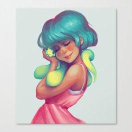 Snakey Snuggles Canvas Print