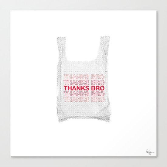Douche Plastic Bag Canvas Print