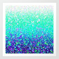 Color Dots Background G212 Art Print