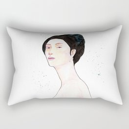 Watercolor - Portrait Rectangular Pillow