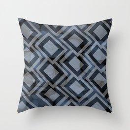 Black and White Squares Pattern 08 Throw Pillow