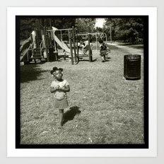 Playground Excitment  Art Print