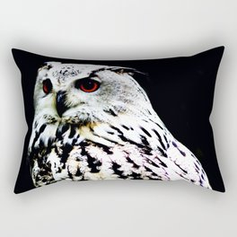 Eurasian Eagle-owl on a black background Rectangular Pillow