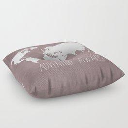 Adventure Awaits World Map Floor Pillow