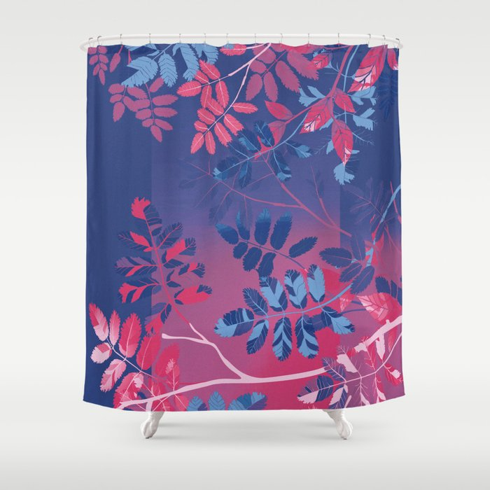 Interleaf - bi Shower Curtain