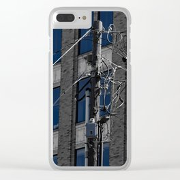Wired In The City Clear iPhone Case